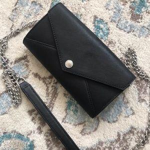 Black Rebecca Minkoff Wallet on a Chain